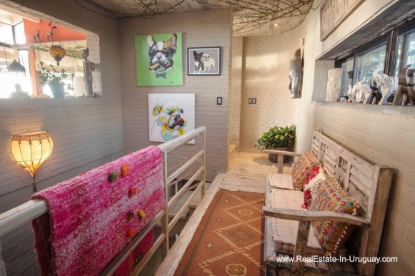 Hall of House on a Double Lot with Sea Views in Punta Ballena