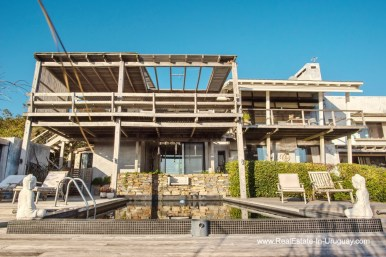 Outside of House on a Double Lot with Sea Views in Punta Ballena