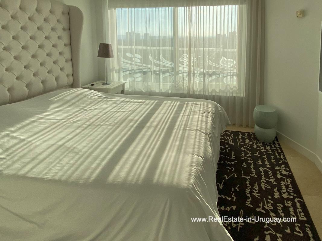 Bedroom of YOO Apartment on a High Floor with Ocean Views in Punta del Este