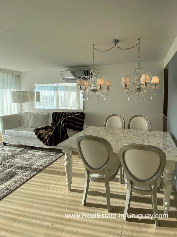 Dining Area of YOO Apartment on a High Floor with Ocean Views in Punta del Este