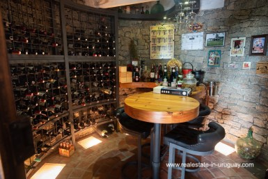 Wine Cellar of Country Home near Laguna del Sauce by Punta del Este