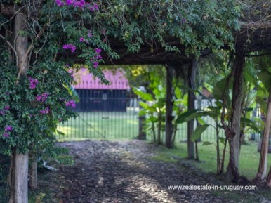 Entrance of Large Touristic Ranch in the Countryside of Uruguay
