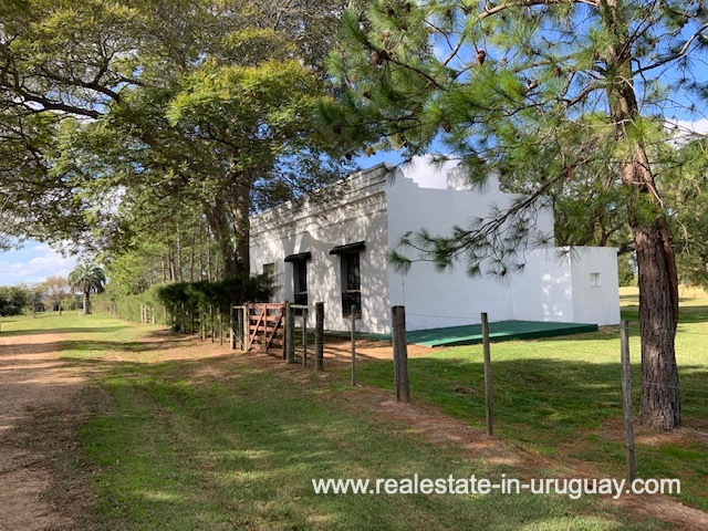 House of Historical Estancia opposite the old Train Station of Jose Ignacio near Garzon