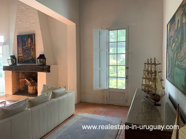 Living Area of Historical Estancia opposite the old Train Station of Jose Ignacio near Garzon