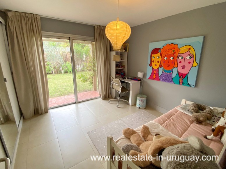 Guest Bedroom of Home in the Gated Community La Arbolada in Punta del Este