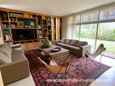 Living Room of Home in the Gated Community La Arbolada in Punta del Este