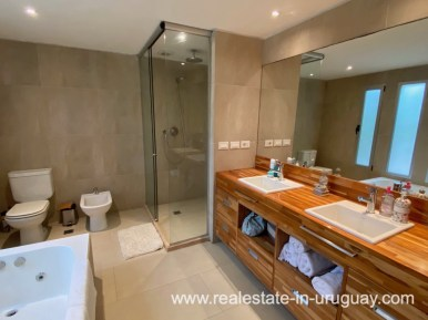 Bathroom of Home in the Gated Community La Arbolada in Punta del Este