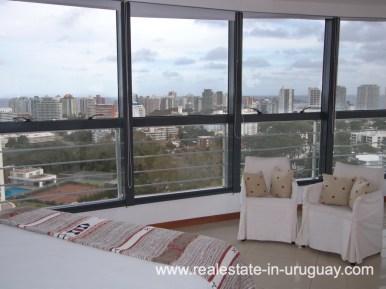 Master Bedroom of Penthouse in Central Location in Punta del Este