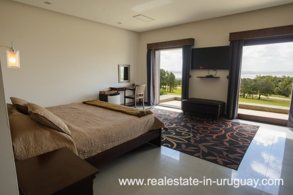 Bedroom of Large House with Views to Laguna del Sauce by Punta del Este