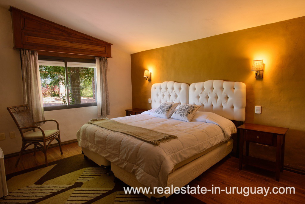 Guestroom of Large House with Views to Laguna del Sauce by Punta del Este