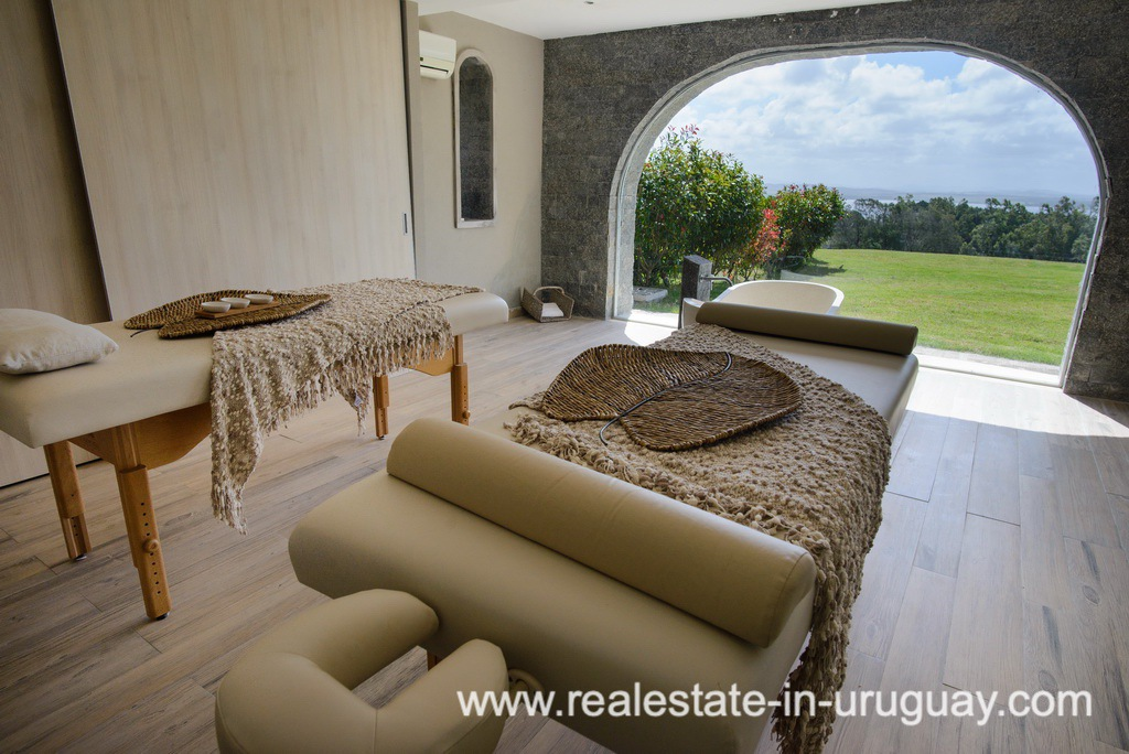 Spa at Large House with Views to Laguna del Sauce by Punta del Este