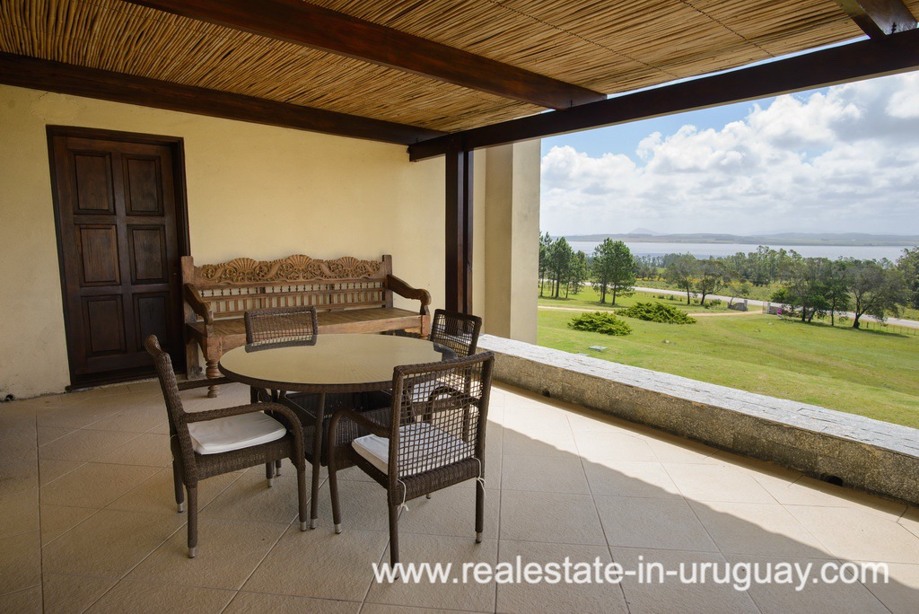 Terrace of Large House with Views to Laguna del Sauce by Punta del Este