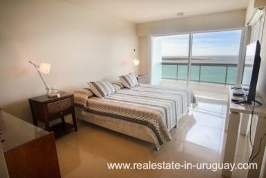 Bedroom of Modern Large Penthouse on the Mansa in Punta del Este