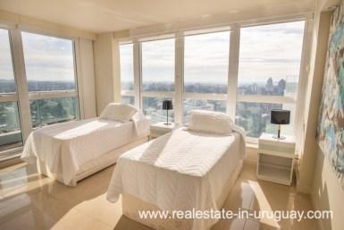 Guest Bedroom of Modern Large Penthouse on the Mansa in Punta del Este
