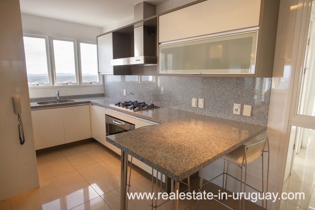 Kitchen of Modern Large Penthouse on the Mansa in Punta del Este