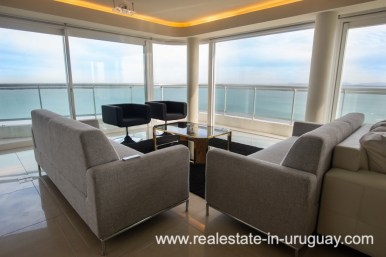 Area Views of Modern Large Penthouse on the Mansa in Punta del Este