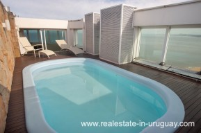 Roof Pool of Modern Large Penthouse on the Mansa in Punta del Este