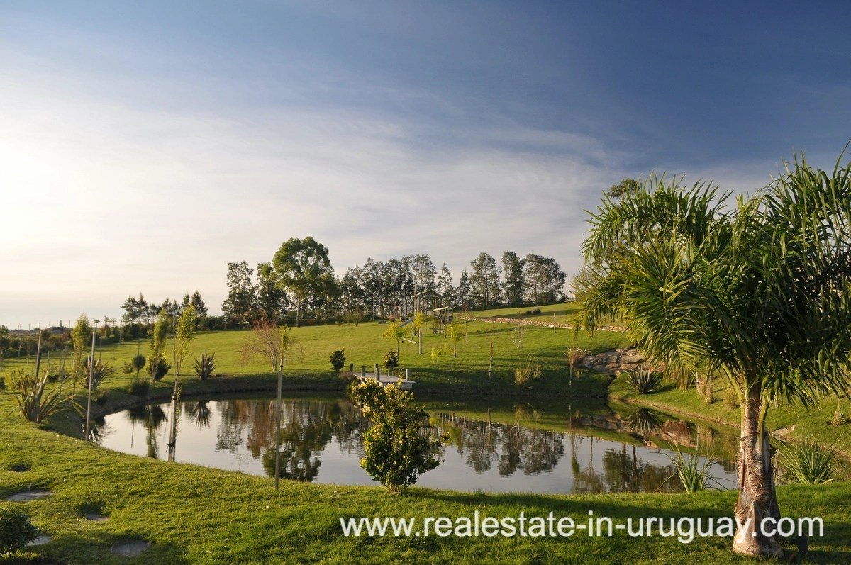 Garden of Spectacular Farm situated on a Hill by Laguna del Sauce