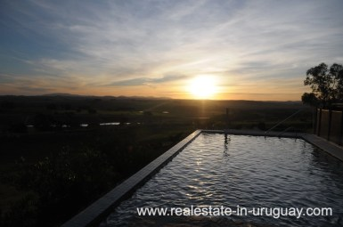 Pool of Spectacular Farm situated on a Hill by Laguna del Sauce