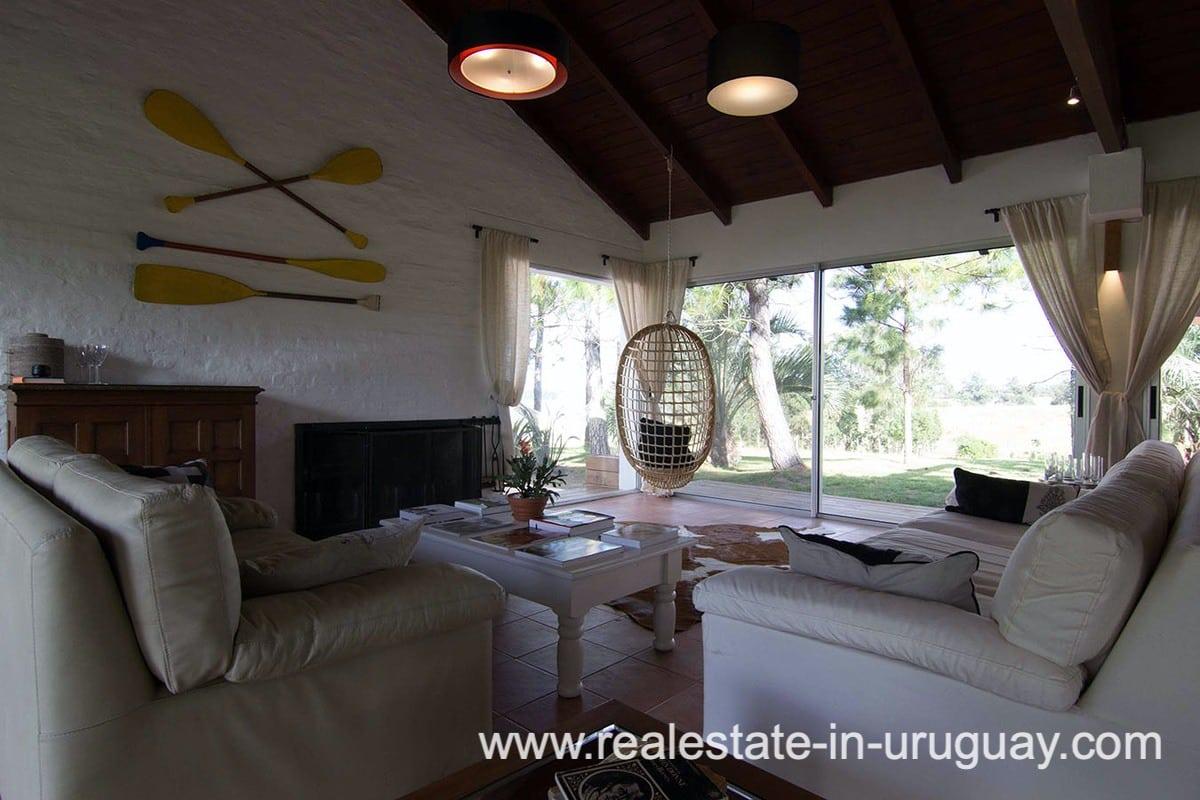 Fireplace of Countryside Property between Jose Ignacio and Garzon