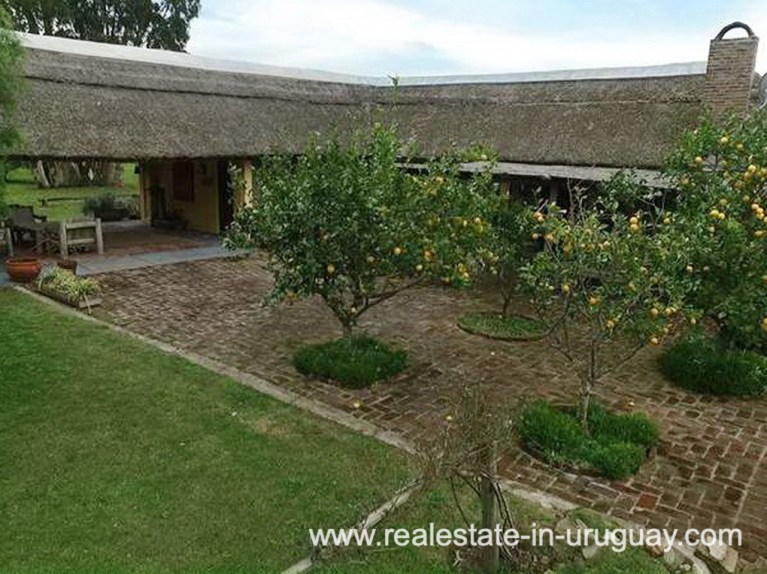 Patio of Farm with 95 Hectares just 15 Minutes from Jose Ignacio