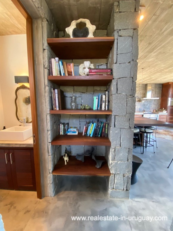 Bookshelf of Design Home in San Antonio near La Pedrera on the Beach