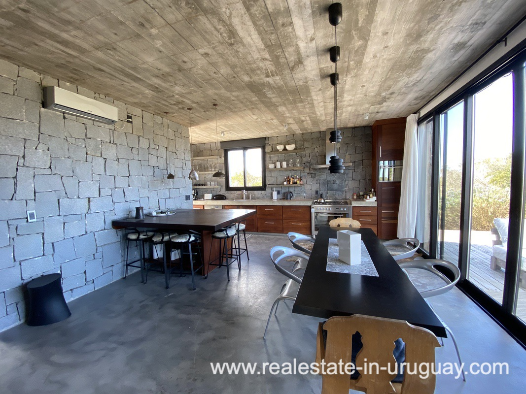 Dining area of Design Home in San Antonio near La Pedrera on the Beach