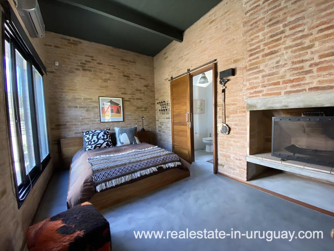Guest Bedroom of Design Home in San Antonio near La Pedrera on the Beach