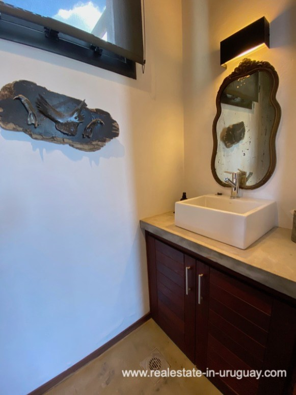 Powder room of Design Home in San Antonio near La Pedrera on the Beach