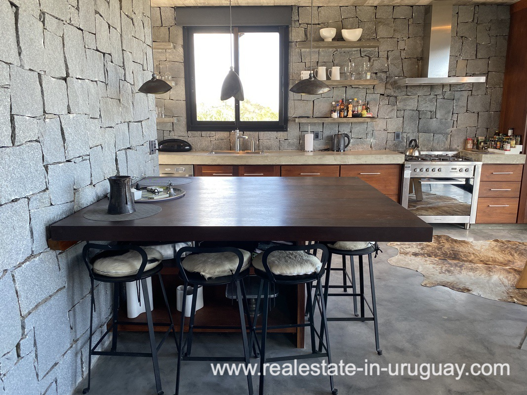 Kitchen table of Design Home in San Antonio near La Pedrera on the Beach