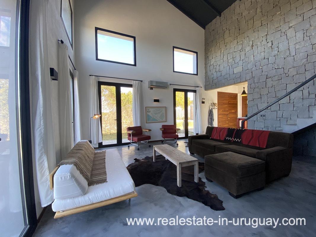 Living space of Design Home in San Antonio near La Pedrera on the Beach