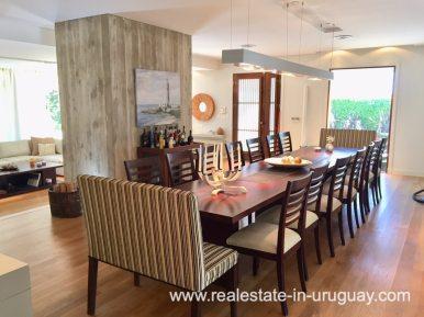Dining Room of Home on the Mansa in Punta del Este