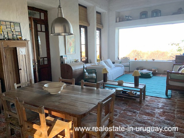Dining Area of Finca off Camino Medellin near Santa Monica and Jose Ignacio