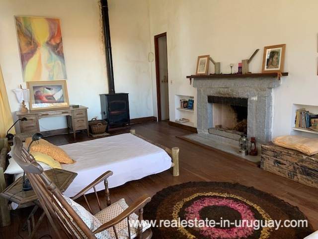Fireplace of Finca off Camino Medellin near Santa Monica and Jose Ignacio