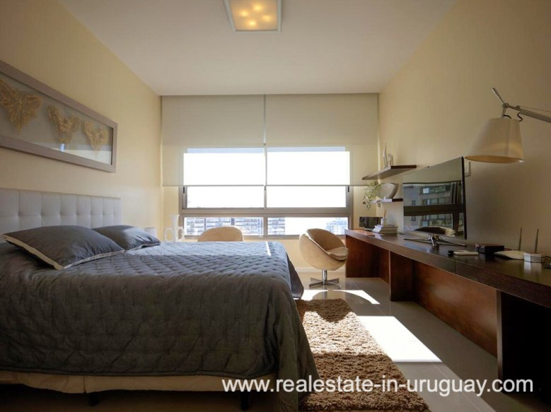 Bedroom of Penthouse near the Peninsula in Punta del Este