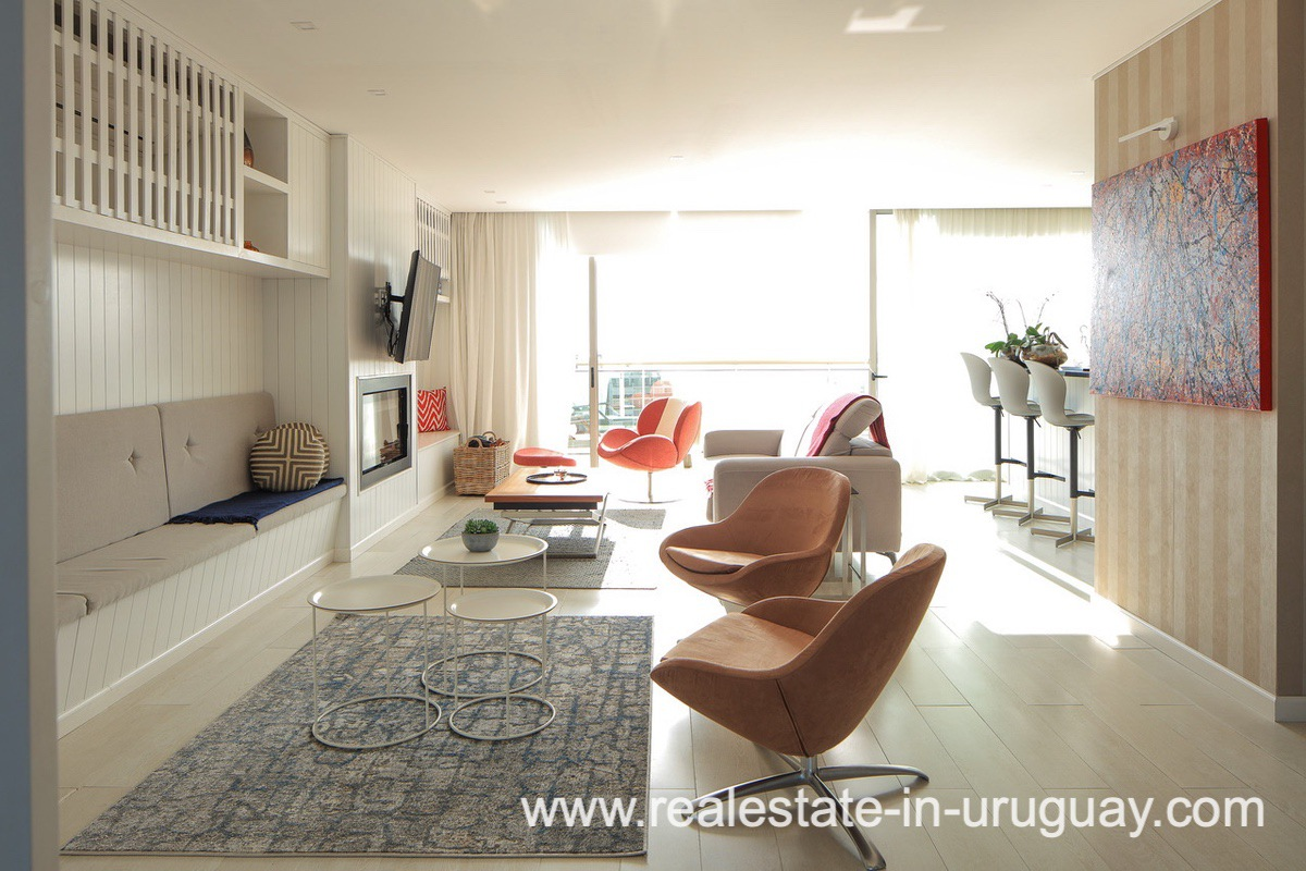 Lounge Space of Penthouse near the Peninsula in Punta del Este
