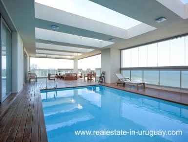 Pool of Penthouse near the Peninsula in Punta del Este