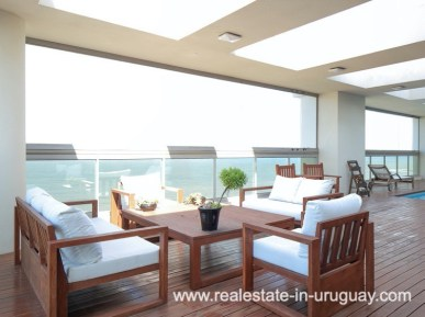 Terrace of Penthouse near the Peninsula in Punta del Este