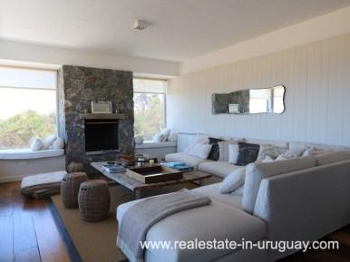 Living Room of Beach Home in Santa Monica