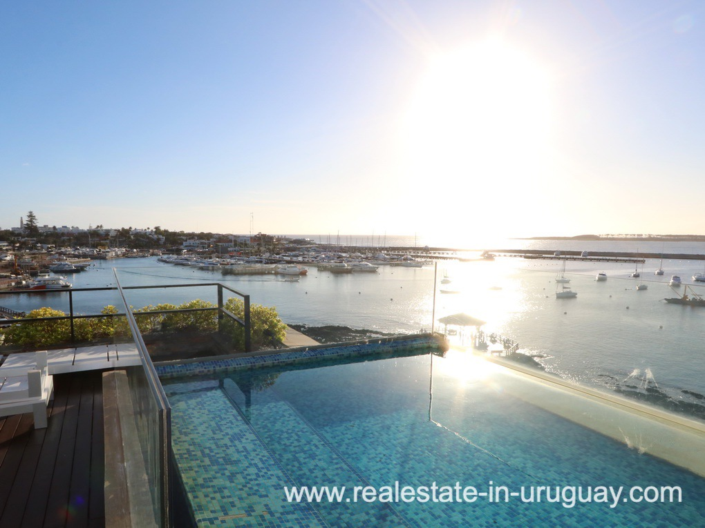 Pool and View of Penthouse by the Punta del Este Harbor