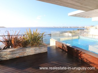 Terrace of Penthouse by the Punta del Este Harbor