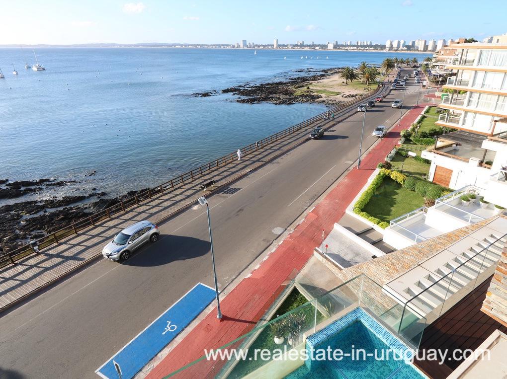 View of Penthouse by the Punta del Este Harbor