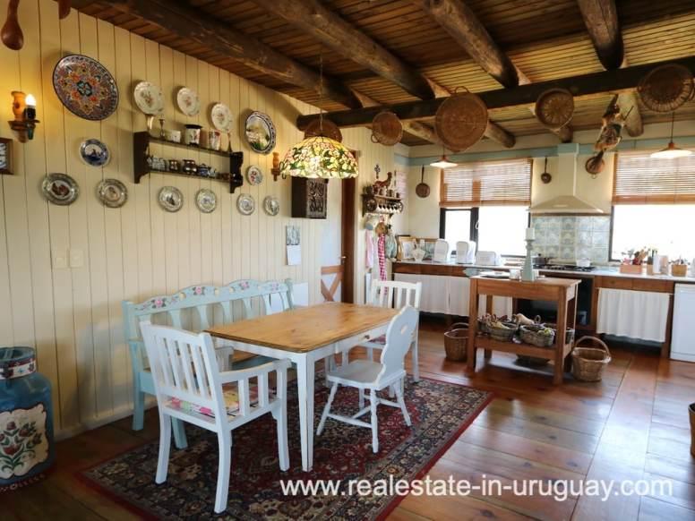 Kitchen of Farm House in El Quijote near Fasano and La Barra