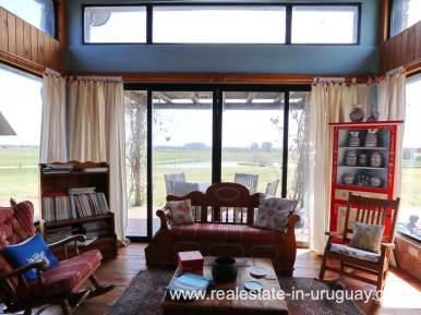 Livingroom of Farm House in El Quijote near Fasano and La Barra