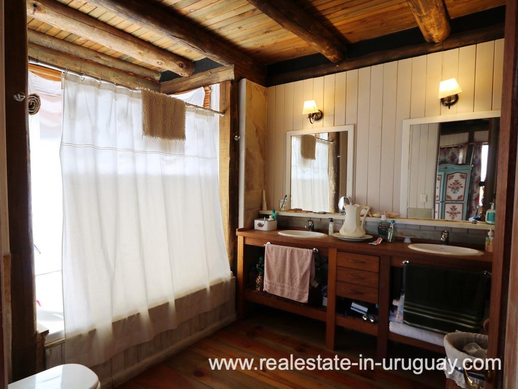 Master Bathroom of Farm House in El Quijote near Fasano and La Barra