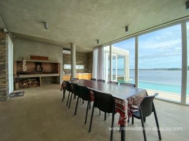 6854 Modern House on Laguna del Sauce - BBQ Room