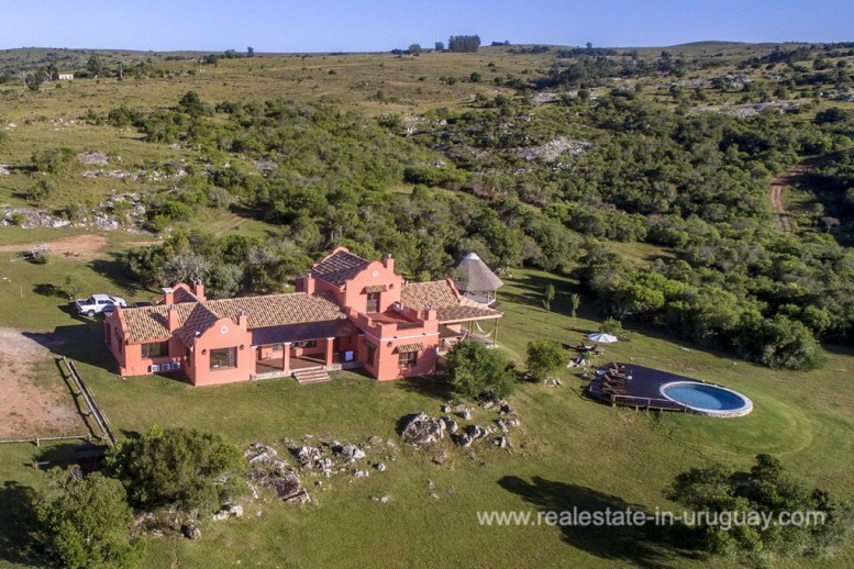Aerial View of Amazing Country Property between Pueblo Eden and Minas