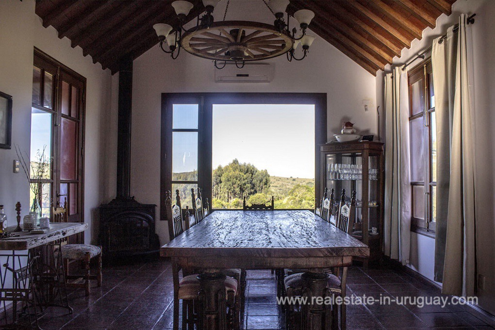 Dining Room of Amazing Country Property between Pueblo Eden and Minas