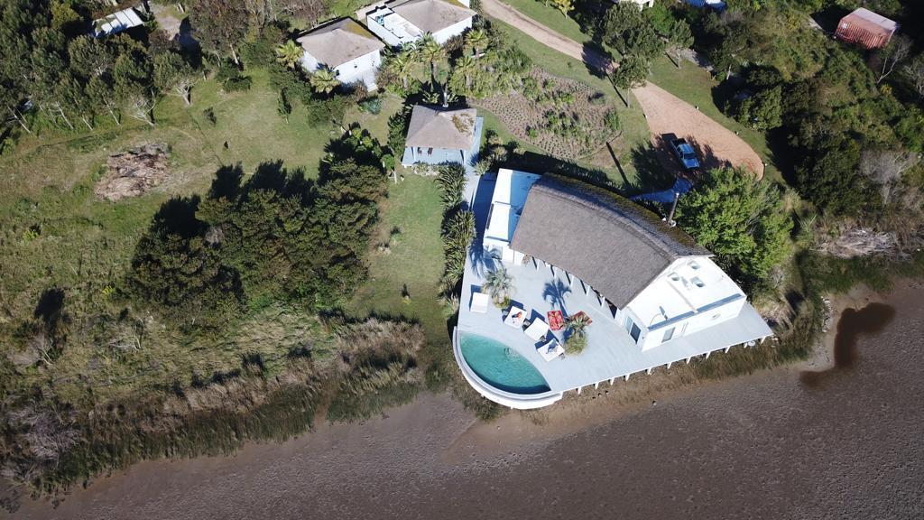 Aerial View Mario Connio House on the Lagoon near Jose Ignacio