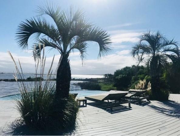 Deck and Pool of Mario Connio House on the Lagoon near Jose Ignacio